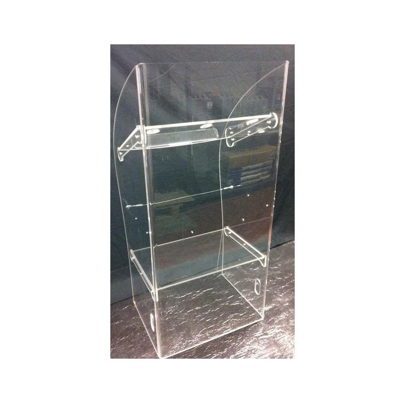 Podio in plexiglass trasparente