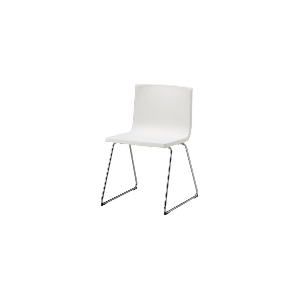 White Faux-leather chair